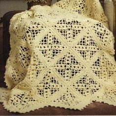 Free Crochet Victorian Lace Afghan pattern