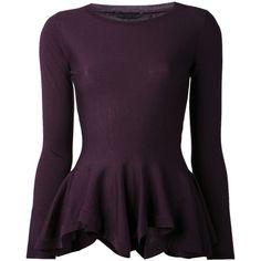 ALEXANDER MCQUEEN peplum pullover sweater found on Polyvore