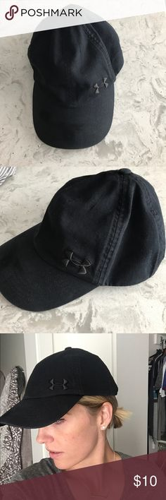 Black Under Armour Hat Gently used. Black women s hat. Under Armour  Accessories Hats Under b37aa689a4