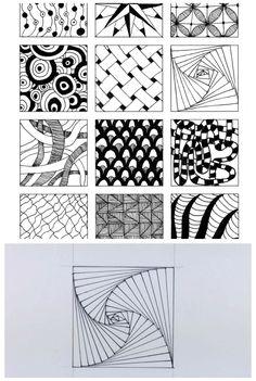 Doodle art 381398662192859093 - 54 Cool Zentangle doodle pattern ideas Source by Doodles Zentangles, Zentangle Drawings, Doodle Drawings, Easy Drawings, Doodle Art, Zentangle Art Ideas, Easy Zentangle Patterns, Graph Paper Drawings, Graph Paper Art