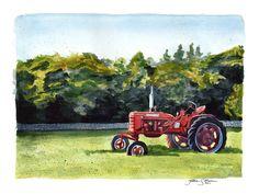 West Tisbury Tractor by jackieocean.deviantart.com on @DeviantArt
