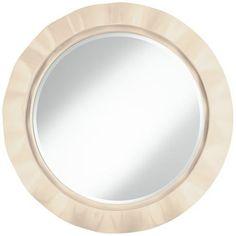 "Steamed Milk 32"" Round Brezza Wall Mirror, Comes in 149 colors"