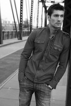 Travis Vulich by Michael Dar (2010) #TravisVulich #MichaelDar #malemodel #model #FordModels #FordModels_Chi #bridge #bw