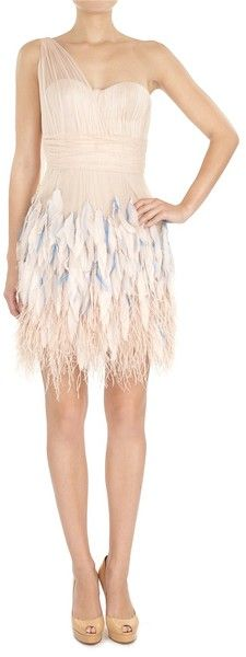 MATTHEW WILIAMSON Feathered Tulle Cocktail Dress - Lyst