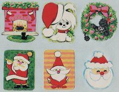 Vintage Christmas Seals, 1960's.