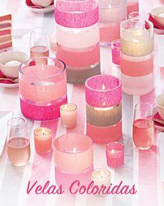 ideias para velas coloridas e lindas!