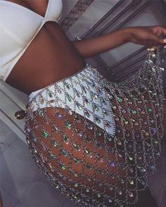 Hollow Mesh Rhinestone Chain skirt, rave bottom, Festival outfit, body chain Belly Chain Belt , Crystal Waist Chain Bikini Waist Chain Beach - Festival looks - Festival Skirts, Music Festival Outfits, Festival Wear, Summer Festival Outfits, Festival Trends, Music Festival Fashion, Coachella Festival, Festival Clothing, Lila Outfits