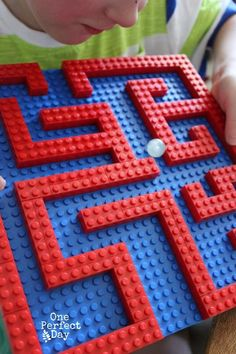 "How to make a Lego marble maze - from One Perfect Day on Octavia and Vicky ("",)"