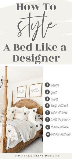 Bedding Master Bedroom, Master Room, Room Ideas Bedroom, Home Decor Bedroom, Queen Bedding, Bed Throws, Pillows For Bed, Decorative Bed Pillows, Bed Pillow Arrangement
