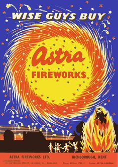 A very extensive collection of vintage posters and labels from fireworks companies, dating back to the 1920s.