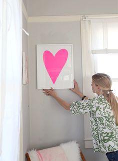 DIY heart art