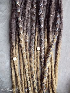 10 Custom Crocheted Dreadlock Clip In or Braid In Extensions Synthetic Hair Boho Dreads Hair Wraps & Beads (Ombre) Crochet Dreadlocks, Wool Dreads, Synthetic Dreadlocks, Synthetic Hair, Dreadlock Extensions, Braids With Extensions, Dread Hairstyles, Braided Hairstyles, Dread Wraps