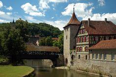 Sulfersteg, Sulfer- Turm und Haalgericht Schwaebisch Hall