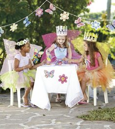 A little girl's tea party wouldn't be complete without tutus!  Make a few in a variety of colors for fun dress-up clothes!