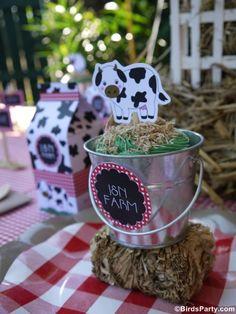 Barnyard Birthday Party: DIY Farm Animal Cupcake Pails Recipe - BirdsParty.com