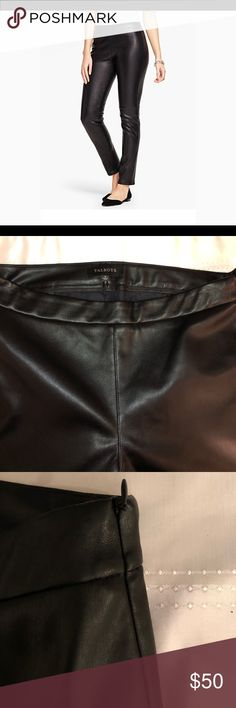 Talbots Faux Leather Black Size 8 pant EUC Just purchased, worn once. Lined pant Talbots Pants Skinny