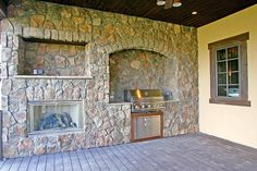 Covered Grill Area- Brookhaven Lane Estates 1 - Masterpiece Custom Builders