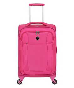 Love this Fuchsia Lightweight Carry-On Spinner by French West Indies on #zulily! #zulilyfinds