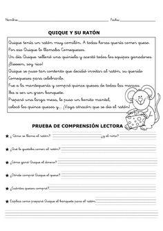 Fichas de comprensión lectora Spanish Class, Reading Comprehension, Middle School, Texts, Sheet Music, Bullet Journal, How To Plan, Motivation, Education