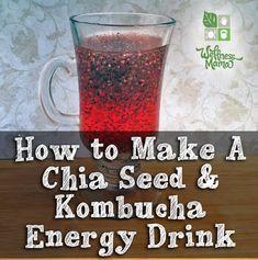 Chia Seed Kombucha Energy Drink