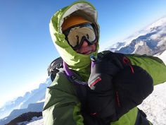 Elbrus 2012 Summit Day - dressed for cold and windy - Seven Summits Quest