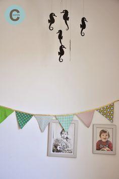Les Fåntåisies de Cocorely: Guirlande de fanions pour chambre d'enfant (DIY)