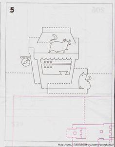 Cats, fireplace and fish Киригами русска. Обсуждение на LiveInternet - Российский Сервис Онлайн-Дневников