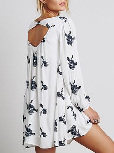 Vestido floral manga larga-blanco 27.59