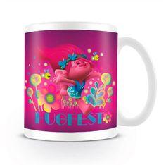 Taza Poppy. Trolls Simpática taza de cerámica, con una imagen de la protagonista de la película Trolls.
