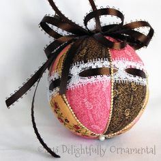 NEW Quilted Ornament Christmas Decoration by DelightfullyOrnament, $18.00