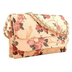 #Buy Bella Flowers Pattern Cream Ladies #Clutches Shopping #Online !