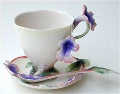 Franz Porcelain Teacups and Saucers
