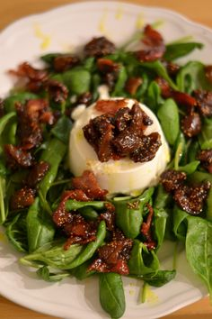 viikuna -pekonisalaatti fig bacon salad