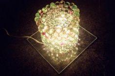 Luminária de bolinhas de gude