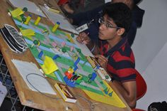 Students preparing board games at  DSK Design Olympiad http://dskic.in