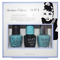 """OPI Breakfast at Tiffany's Collection """"I Believe in Manicures Trio"""" Nail Lacquer"""
