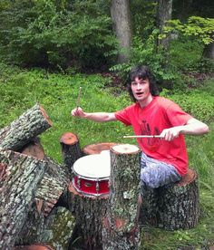 Jamming on my lovely new outdoor ash wood drum kit courtesy of some stupid ash borer beetles and a chainsaw.  #DrummingCoMayPhotoChallenge #day25 - #outdoors.  @promarkbydaddario @juniorcrimefighters  #juniorcrimefighters #me #longhair #drummer #drumming #drumlife #nature #naturelovers #drumset #drumkit #progrock #metal #heavymetal #indienation #drums #percussion #drumporn #cymbal #cymbals #trees #plants #naturegram #woods #nature_shooters #promark #drumsticks by b.reynolds513