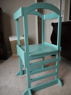 Ana White | Build a The Little Helper Tower | Free and Easy DIY Project and Furniture Plans Stools like this are normally $150 and they don't fold up. I love that this could be put away easily.
