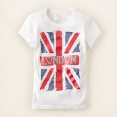 London flag graphic tee... Even American companies are rocking the Union Jack!