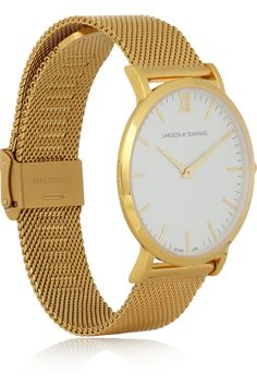 #Larsson&Jennings | CM #gold-plated #watch | NET-A-PORTER.COM