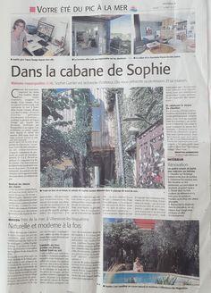 Midi Libre Montpellier : Dans la Cabane de Sophie http://www.tepeedesign.fr/midi-libre-montpellier-cabane-de-sophie.html