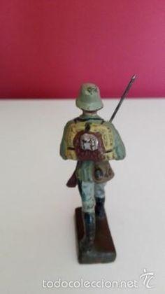 Juguetes Antiguos: nº3 antiguo soldado aleman , dimensiones 7. 5cm, son muy coleccionables. - Foto 3 - 58152257
