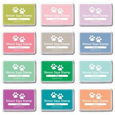 Simon Says Stamp Premium Dye Ink Pad Set DESIGNER SPLASHES SetDS216 Splash of Color