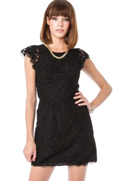ShopSosie Style : Sarafina Dress in Black