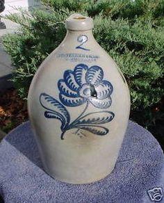 STETZENMEYER GOETZMAN Rochester Stoneware JUG, DAISY