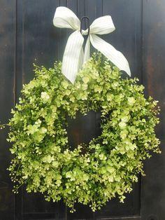 Boxwood wreath Front Door Wreaths Fern Wreaths Spring by bndd