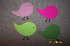 30 BIRD DIE CUTS teacher classroom door bulletin board display scrapbook party baby shower decorations on Etsy, $10.00