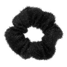Black Tinsel Scrunchie