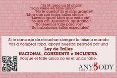 Por una Ley de talles nacional en Argentina Body Positive, Body Image, Positivity, Clothing, Law, Argentina, Life, Outfits, Outfit Posts