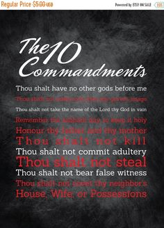 """Flash: 66% Of Entire Shop 10 Commandments Artwork - 18X24 - Instant Download - Digital Artwork by mormonlinkshop  1.70 USD  Let the commandments of God inspire others. Hang it in so many places. """"For this is the love of God that we keep his commandments. And his commandments are not burdensome"""" - 1 John 5:3 INCLUDED IN THIS LISTING: This listing includes the 10 Commandments art image shown above in (8) different color schemes (use the same chalkboard background for all versions and just…"""